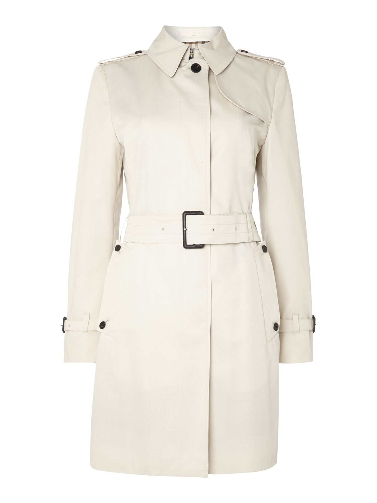 Aquascutum Franca Single Breasted Raincoat, Cream