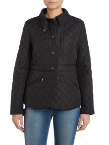 Peplum quilted jacket