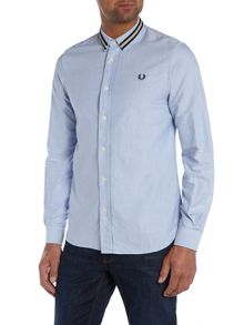 Long Sleeve Oxford Tipped Collar Shirt