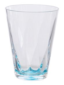 Blue colour burst acrylic tumbler