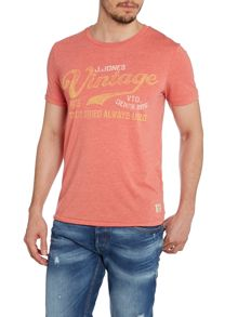 Mens faded logo top