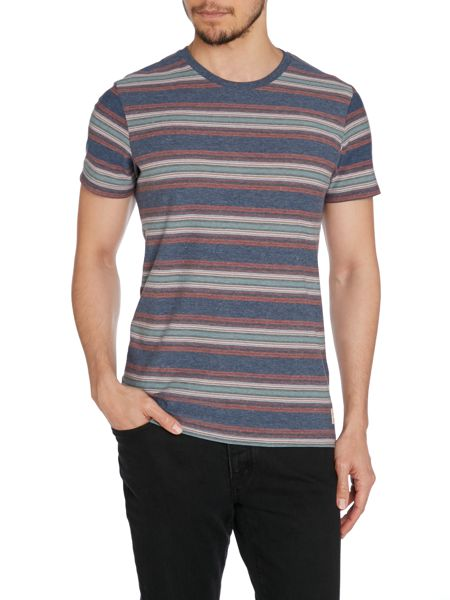 Jack & Jones Mens Multi Retro Stripe Top