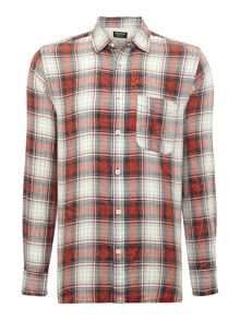 Mens Large Checked Flannel Shirt