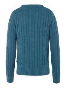 Barbour Boys Pantone cable crew neck jumper