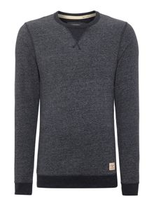 Mens long sleeve marl crew sweat