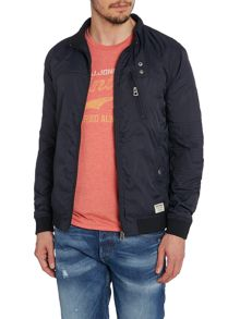 Mens nylon bomber jacket