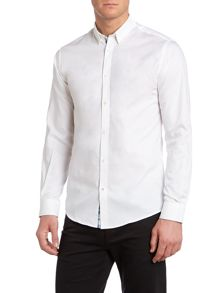 Mens long sleeve cut away shirt