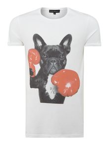Boxing dog graphic tee
