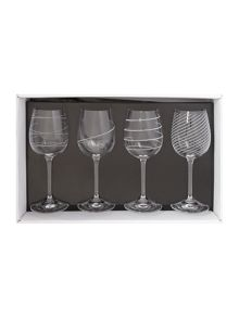 Linea Kimberley set of 4 crystal wine glasses