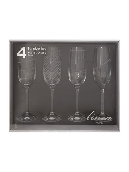 Linea Kimberley crystal flutes set of 4