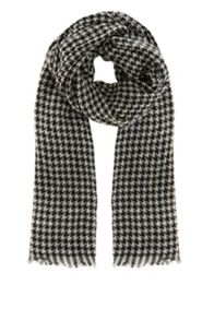 Dog Tooth Jaquard Scarf
