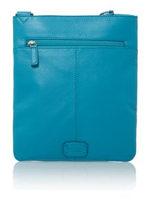 Pocket bog blue medium crossbody bag