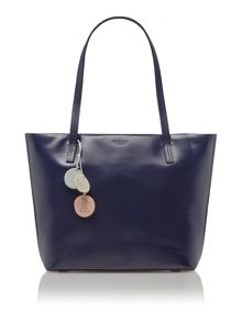 De beauvoir navy large tote bag