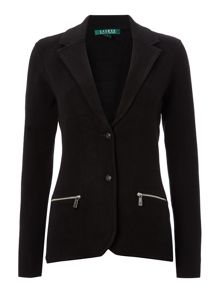 Long sleeved blazer with zip pockets