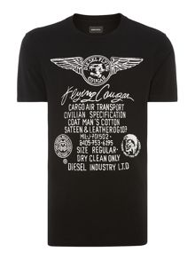 Diesel Flying Cougar Wings Tee
