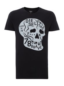 Only the brave skull tee