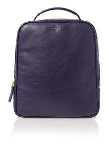 Victoria park navy medium backpack