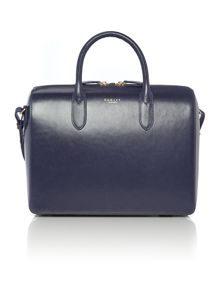 Bloomsbury navy medium tote bag