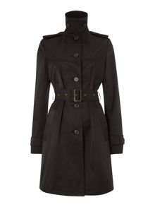 Long sleeved belted duster coat