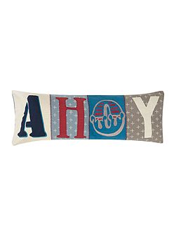 Ahoy cotton applique cushion