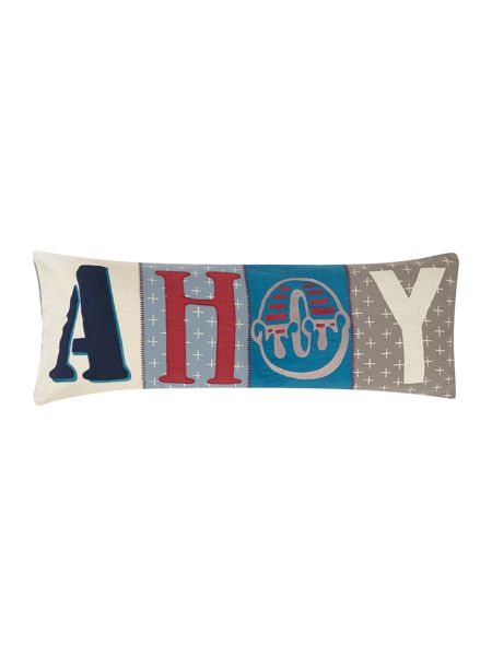 Linea Ahoy cotton applique cushion