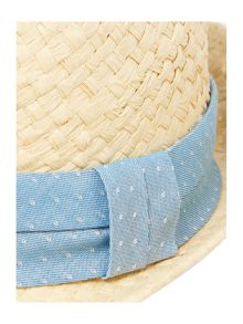 Chambray band trilby