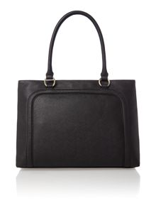 Armani Jeans Black medium saffiano tote bag