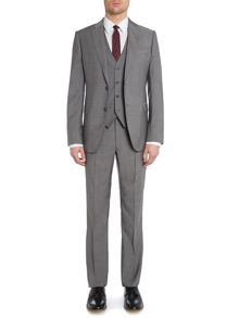 Textured Three Piece slim fit suit