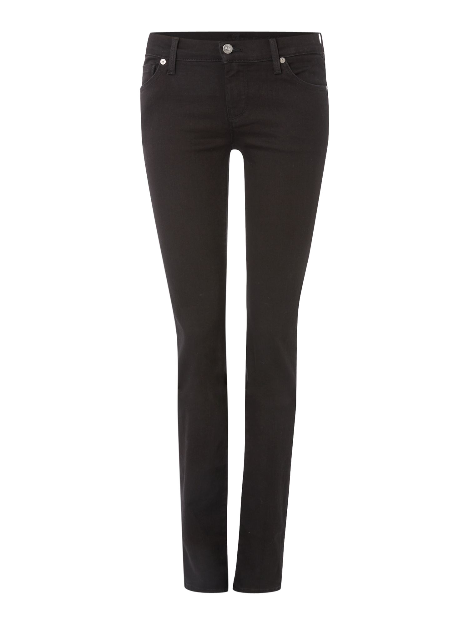 7 For All Mankind 7 For All Mankind Straight leg jeans in Portland Black, Black