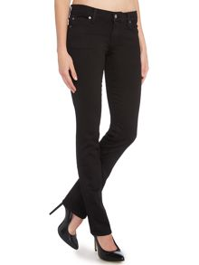 7 For All Mankind Straight leg jeans in Portland Black
