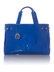 Blue large exclusive tote bag