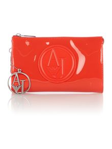 Red small patent cross body bag