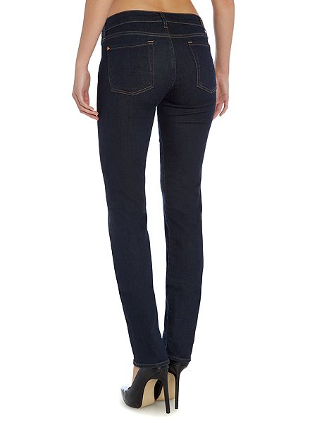 7 for all mankind roxanne slim jeans in long dark beach. Black Bedroom Furniture Sets. Home Design Ideas