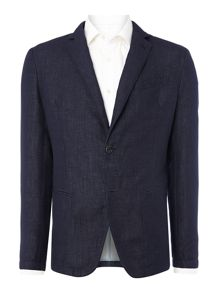 Armani Collezioni Regular Fit Denim Suit Style Jacket