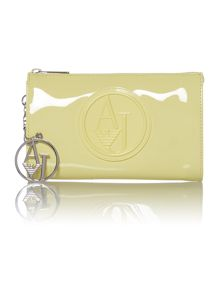 Yellow small cross body patent bag