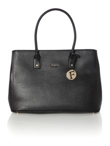 Linda black medium tote bag