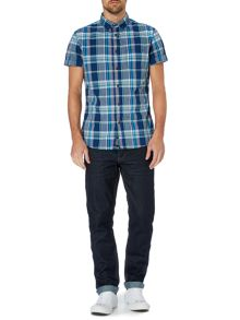 Criminal Eddie check short sleeve shirt