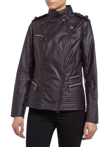 International Falco wax biker jacket