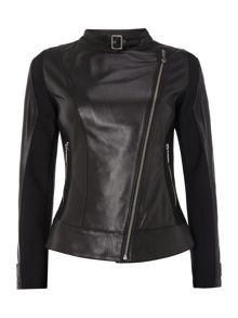 International Wing soft leather biker jacket