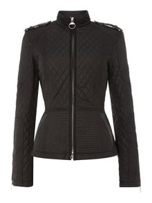 International Falco biker inspired quilted jacket