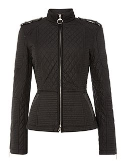 International Folco biker inspired quilted jacket