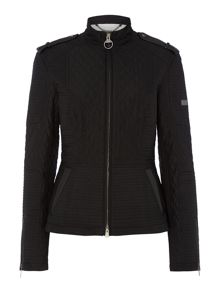 Barbour International Folco biker inspired quilted jacket