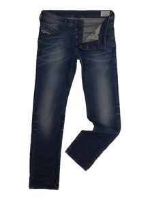 Belther 838D Mid Indigo Tapered Jeans