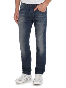 Belther mid indigo tapered jeans