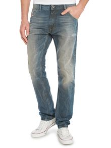 Krayver tapered mid wash jeans