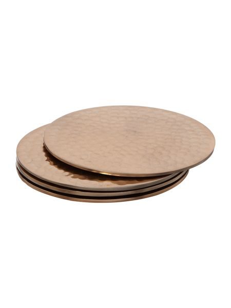 Casa Couture Copper metal coasters set of 4