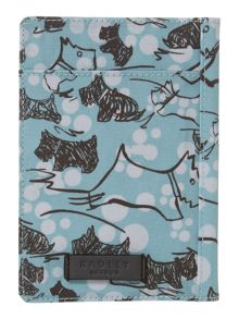 Cherry blossom dog blue passport cover