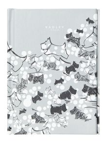 Cherry blossom dog blue A6 notebook