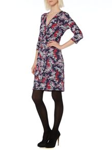 Blossom floral wrap dress