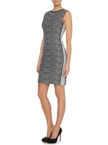Sleeveless fitted textured dress